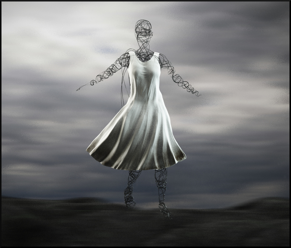 3d, dress, wind, illusion - micah_denn | ello