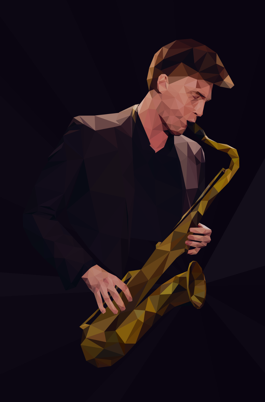 Acid Sax - illustration, design - micah_denn | ello