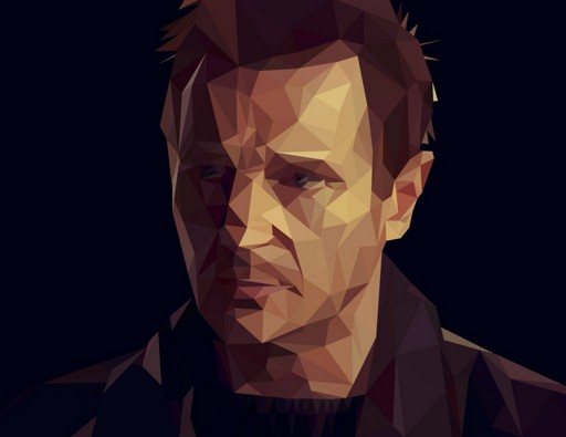 Liam Neeson Low-Poly